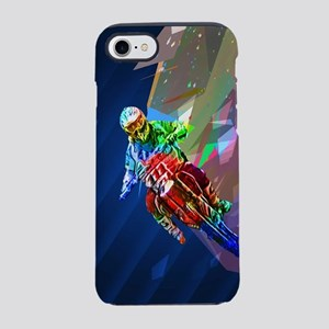 Super Crayon Colored Dirt Bike iPhone 7 Tough Case