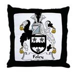 Foley Family Crest  Throw Pillow