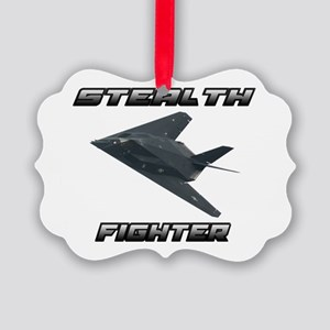 Stealth Fighter Picture Ornament