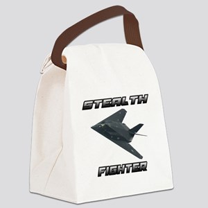 Stealth Fighter Canvas Lunch Bag