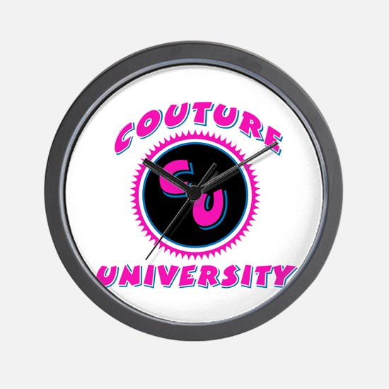 Couture University Pink Wall Clock