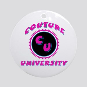 Couture University Pink Ornament (Round)