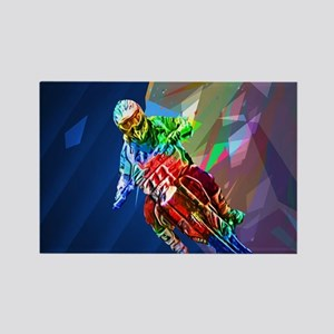 Super Crayon Colored Dirt Bike Leaning Int Magnets