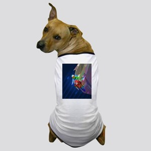 Super Crayon Colored Dirt Bike Leaning Dog T-Shirt
