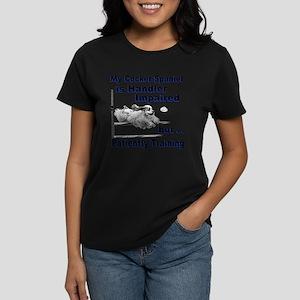 Cocker Spaniel Agility Women's Dark T-Shirt