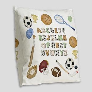 Sports Burlap Throw Pillow