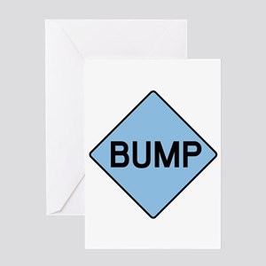 BABY BUMP (BLUE) Greeting Card