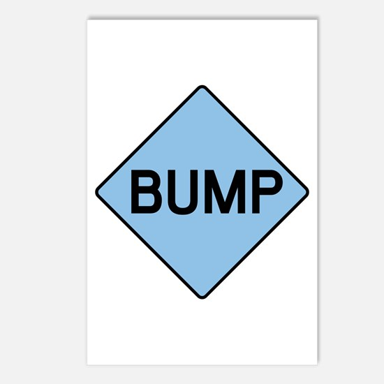 BABY BUMP (BLUE) Postcards (Package of 8)