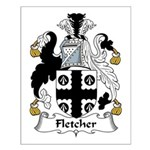 Fletcher Family Crest Small Poster