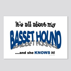 All About My Basset Hound (She) Postcards (Package