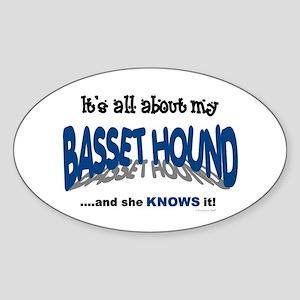 All About My Basset Hound (She) Oval Sticker