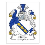 Fitton Family Crest Small Poster