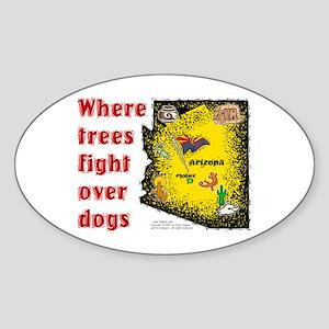 AZ-Trees Fight! Oval Sticker