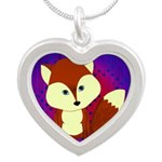 Red Fox on Purple Necklaces