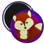 Red Fox on Purple Magnets