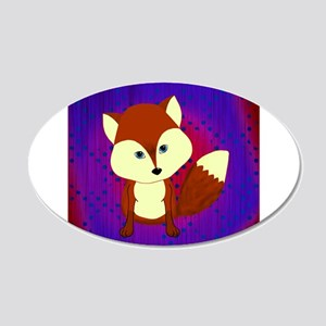 Red Fox on Purple Wall Decal