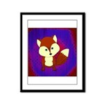 Red Fox on Purple Framed Panel Print