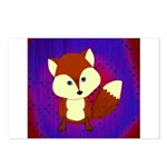 Red Fox on Purple Postcards (Package of 8)