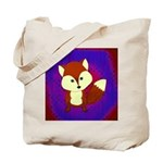 Red Fox on Purple Tote Bag