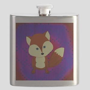 Red Fox on Purple Flask
