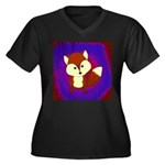 Red Fox on Purple Plus Size T-Shirt