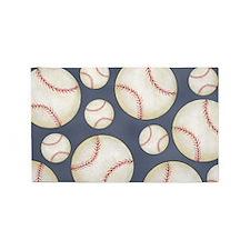 Baseball Area Rug