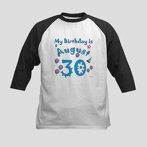 August 30th Birthday Kids Baseball Jersey