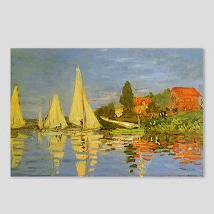 Claude Monet Regatta at A Postcards (Package of 8)