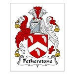 Fetherstone Family Crest Small Poster