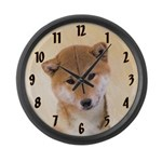 Shiba Inu (Red) Large Wall Clock