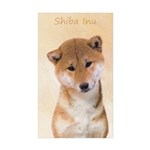 Shiba Inu (Red) Sticker (Rectangle 10 pk)