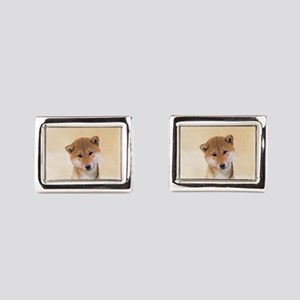 Shiba Inu (Red) Rectangular Cufflinks