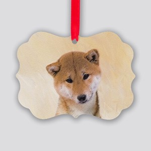 Shiba Inu (Red) Picture Ornament