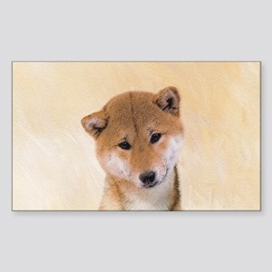 Shiba Inu (Red) Sticker (Rectangle)