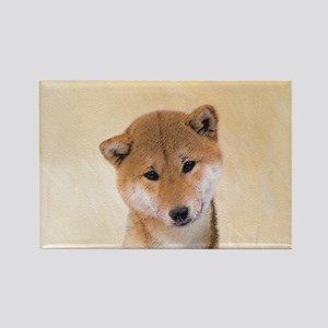 Shiba Inu (Red) Rectangle Magnet
