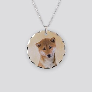 Shiba Inu (Red) Necklace Circle Charm