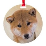Shiba Inu (Red) Round Ornament