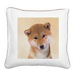 Shiba Inu (Red) Square Canvas Pillow
