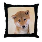 Shiba Inu (Red) Throw Pillow