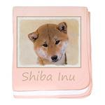 Shiba Inu (Red) baby blanket