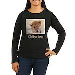 Shiba Inu (Red) Women's Long Sleeve Dark T-Shirt