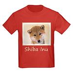 Shiba Inu (Red) Kids Dark T-Shirt