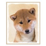 Shiba Inu (Red) Small Poster
