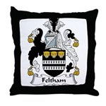 Feltham Family Crest Throw Pillow