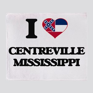 I love Centreville Mississippi Throw Blanket