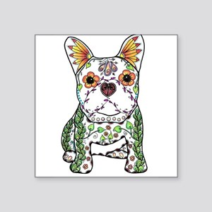 Sugar Skull Frenchie Sticker