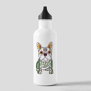 Sugar Skull Frenchie Water Bottle