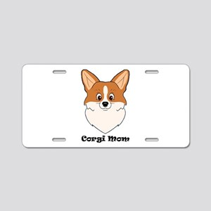 Corgi Mom Aluminum License Plate