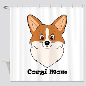 Corgi Mom Shower Curtain