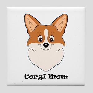 Corgi Mom Tile Coaster
